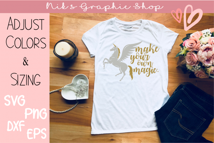 Unicorn Svg, Magic Svg, Make your own Magic Svg, Cut Files