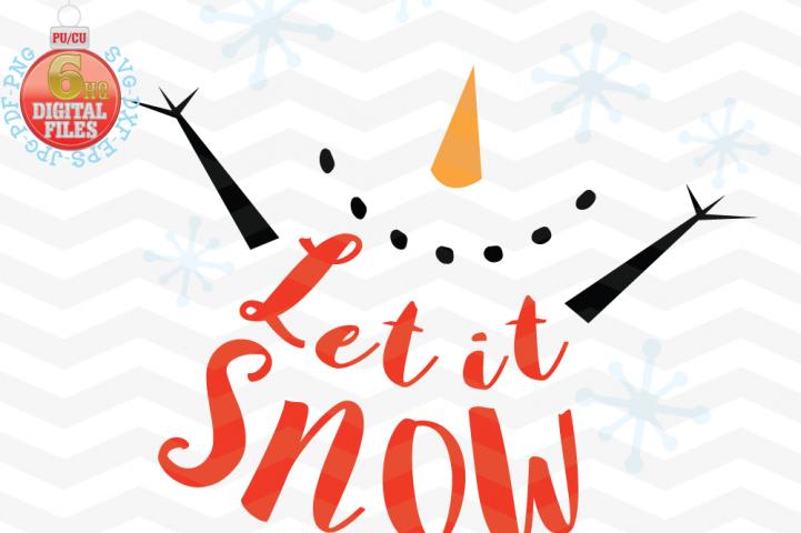 Let it snow svg - Snow Cute SVG - Christmas SVG - Snow SVG