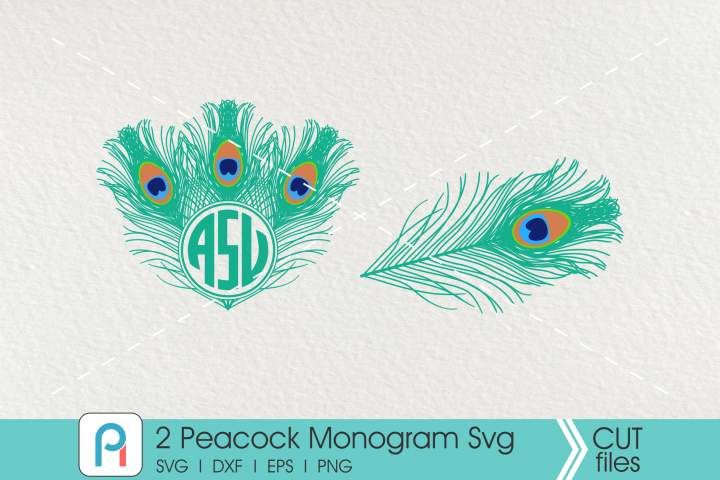 Peacock Svg, Peacock Monogram Svg, Peacock Clip Art