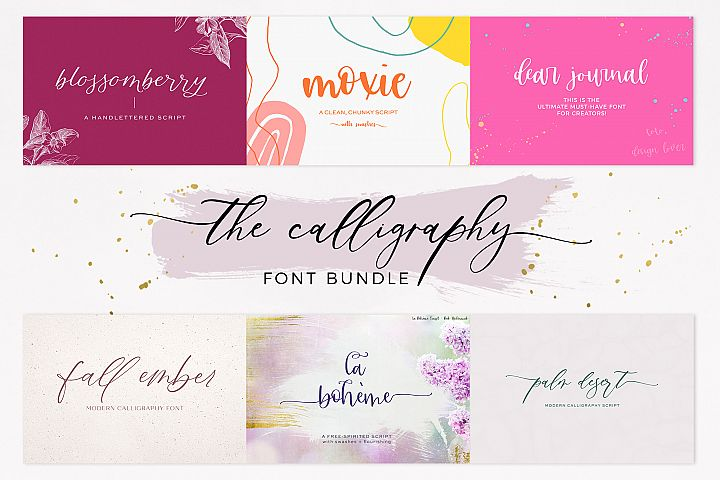 The Chic Calligraphy Font Bundle