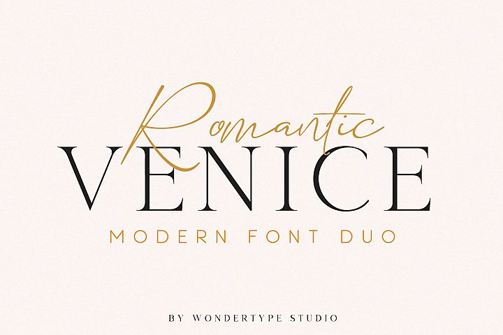 Romantic Venice Font Duo