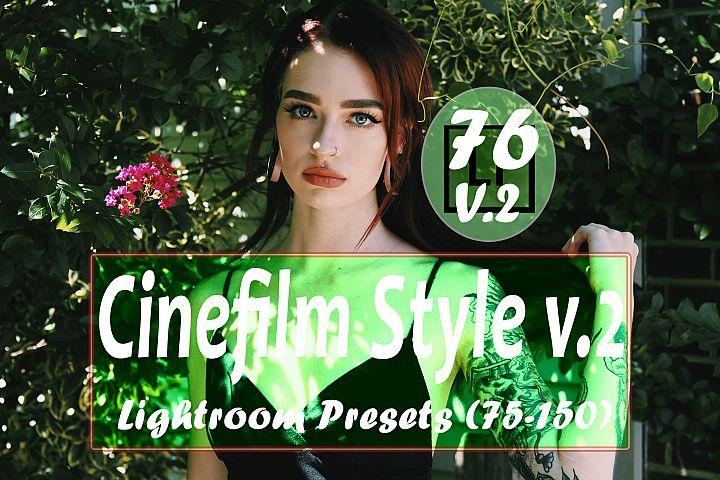 Cinefilm Style v.2 76 to 150 Lightroom Presets