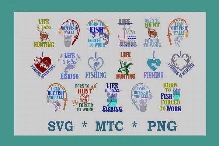 Fishing & Hunting MEGA Bundle 17 SVG Cut Files