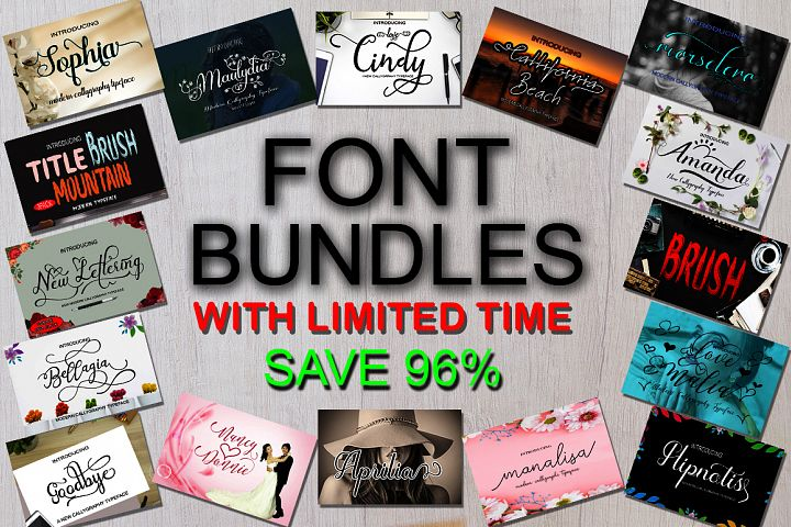 Font Bundle With Limited Time