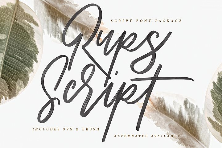 Rups Script - SVG Font