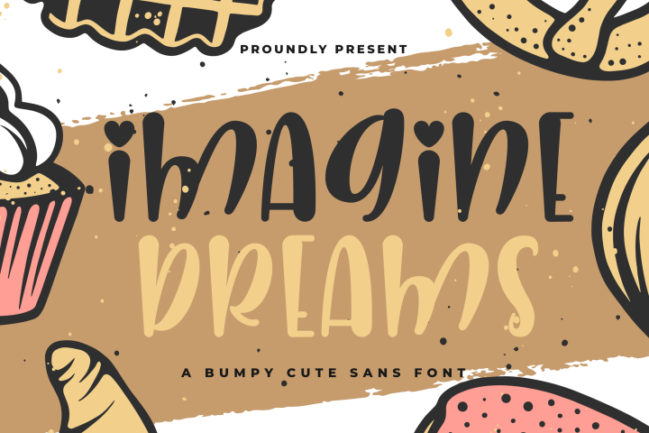 Imagine Dreams - A Bumpy Cute Sans Font - Free Font of The Week