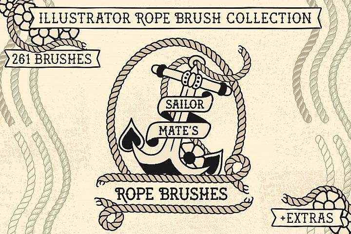 Sailor Mates Rope Brush Collection