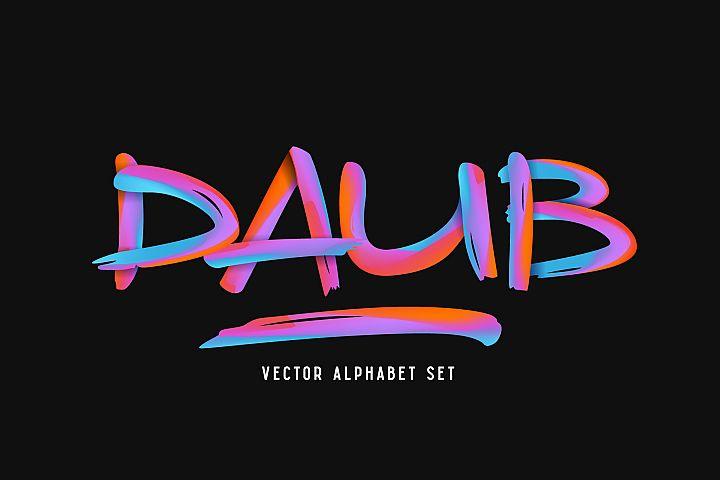 Daub Alphabet