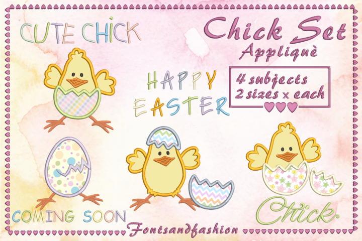 Chick Set_Appliquè