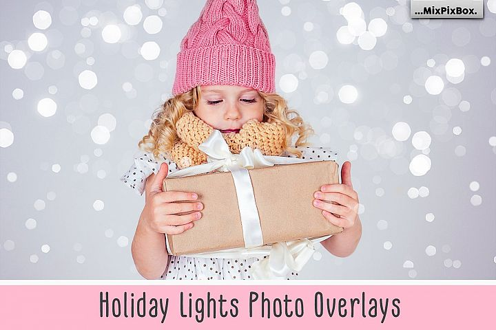 Holiday Lights Photo Overlays