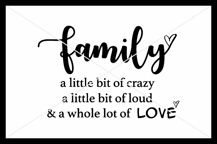 Family, SVG, Silhouette Cameo, Cut File, Cricut, Love
