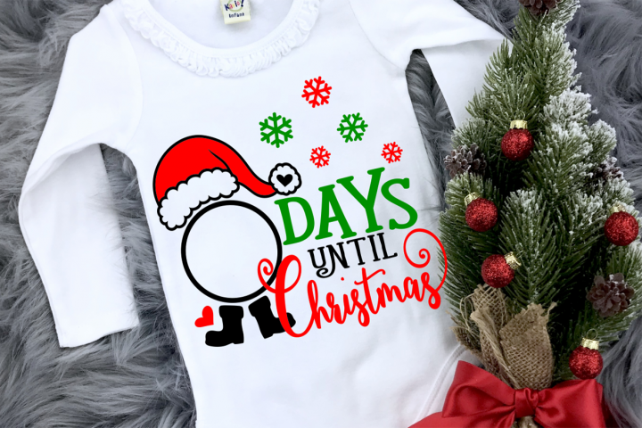 Days until Christmas svg , Santa SVG, dxt, eps, png, pdf