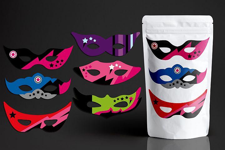 Girly Superhero Masks Clip art