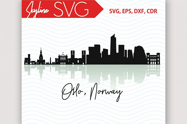 Oslo Skyline, Norway City Country in Europe Vector SVG