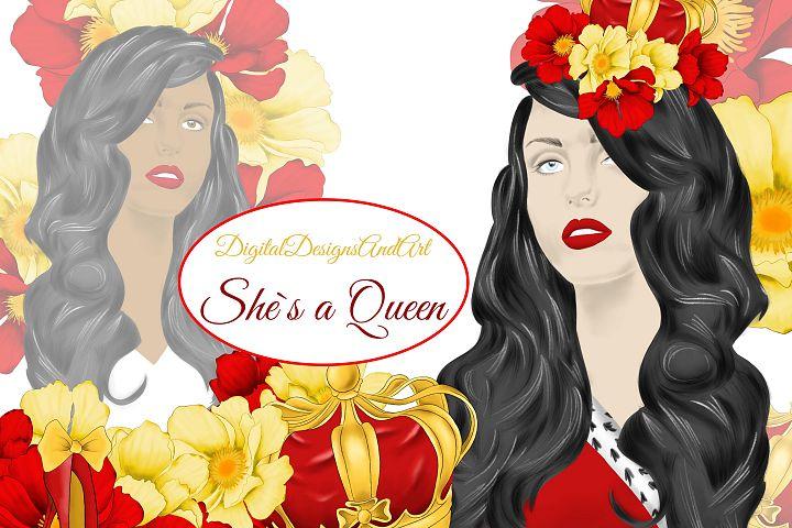 She`s a Queen clipart set
