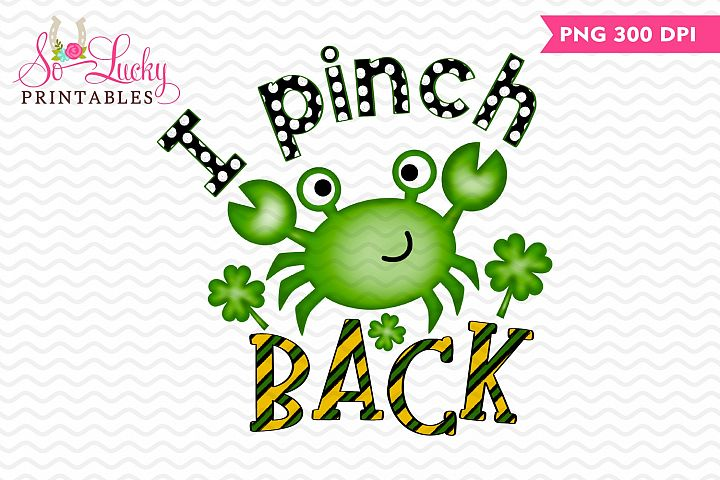 I Pinch Back Crab painted printable sublimation design
