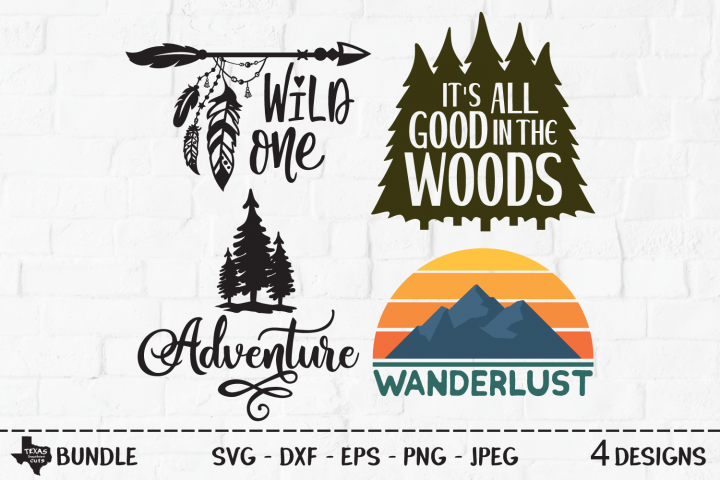 Outdoors Bundle SVG, Cut Files, Outdoor Shirt Design