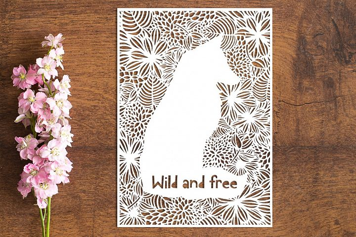 Wild & Free Fox - PDF Paper Cutting Template