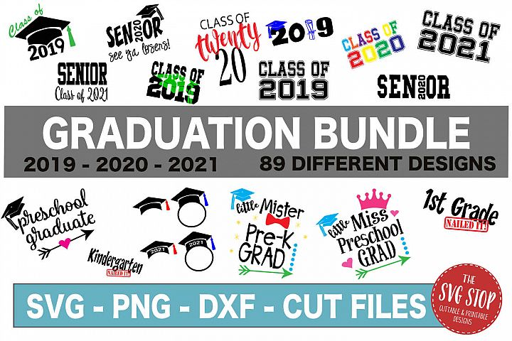 Graduation SVG Bundle - SVG, PNG, DXF