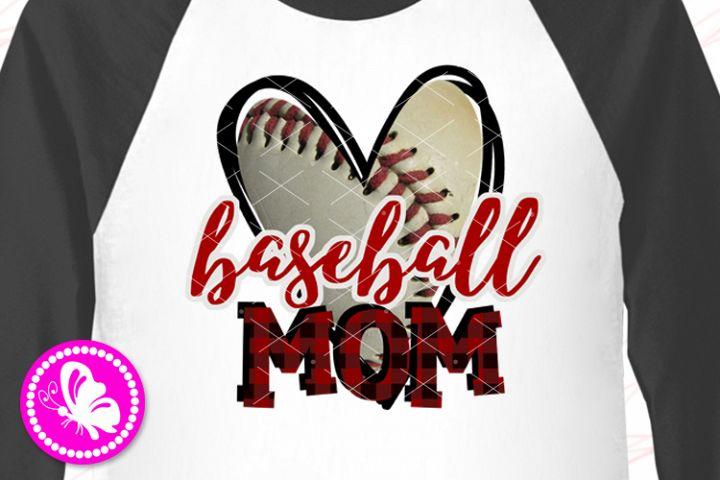 Baseball mom PNG Sublimation design downloads Sports ball