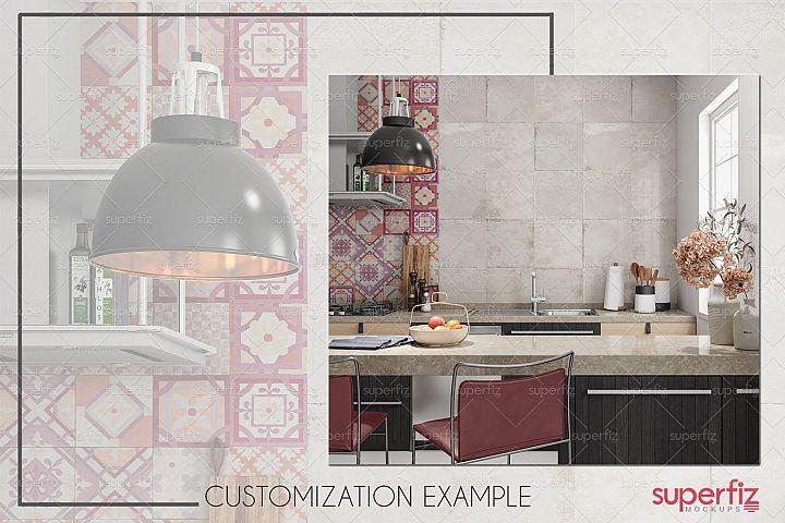 Blank Wall Kitchen PSD Mockup SM73