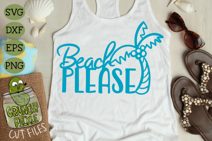 Beach Please Palm Tree SVG Cut File