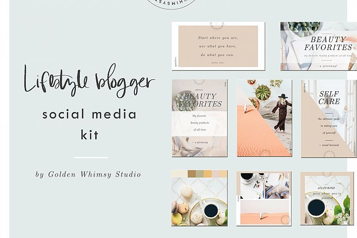 CANVA Lifestyle Blogger Social Media Kit