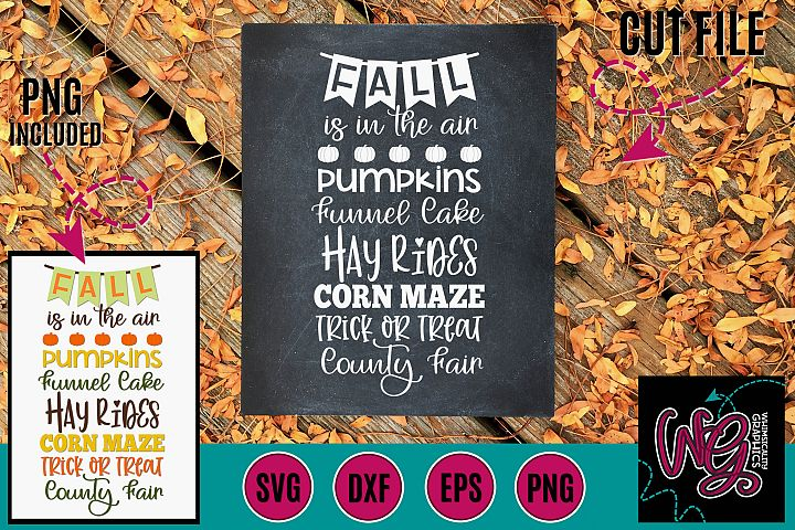 Fall is in the Air SVG DXF PNG EPS
