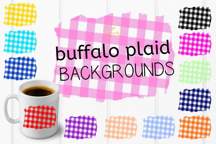 Buffalo Plaid Sublimation Backgrounds Bundle