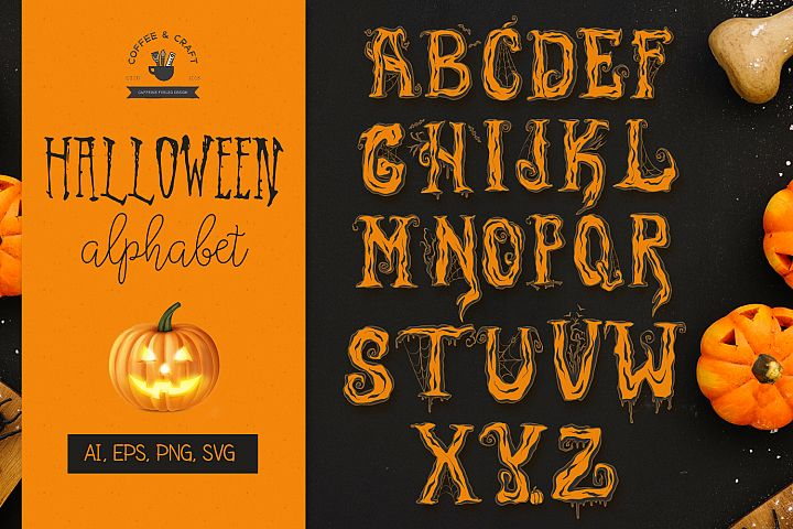 Halloween Alphabet - Free Design of The Week