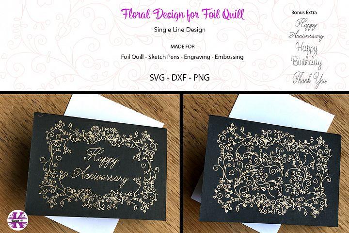 Floral Design for Foil Quill|Sketch Pen