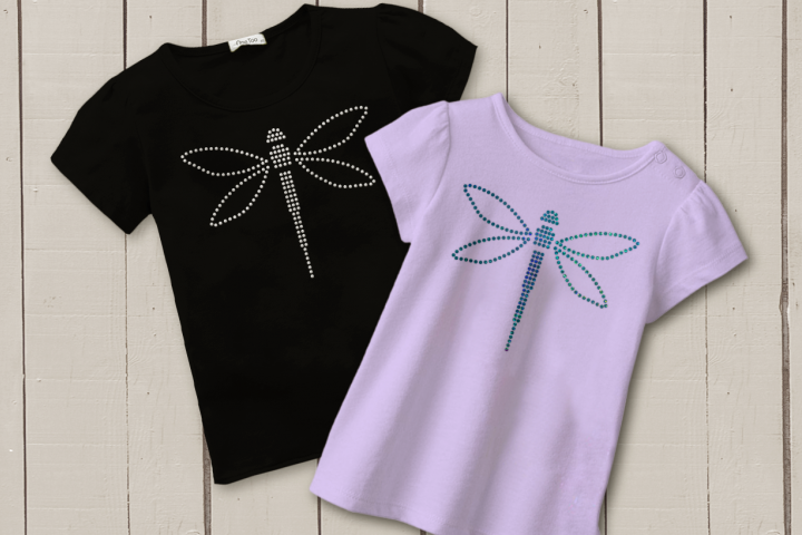 Dragonfly Rhinestone SVG Template