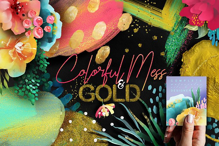 Colorful Mess & Gold