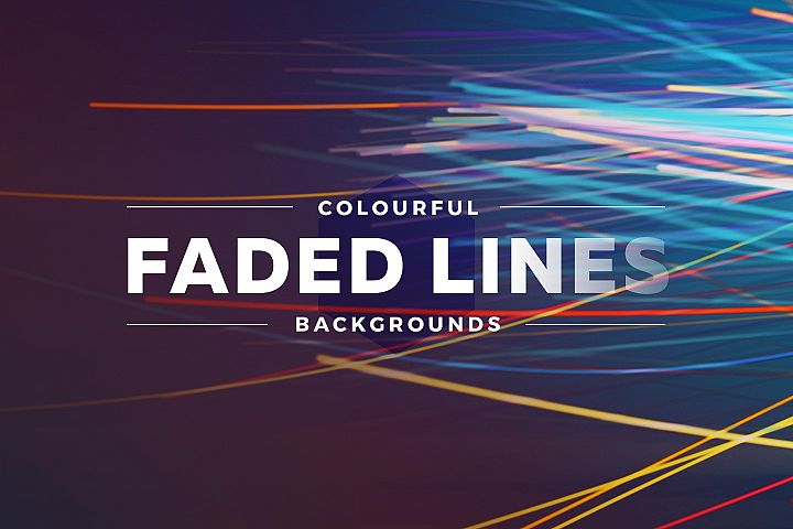 Colorful Faded Lines Background