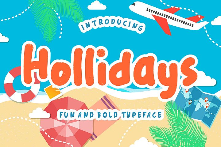 Hollidays Fun Children Typeface