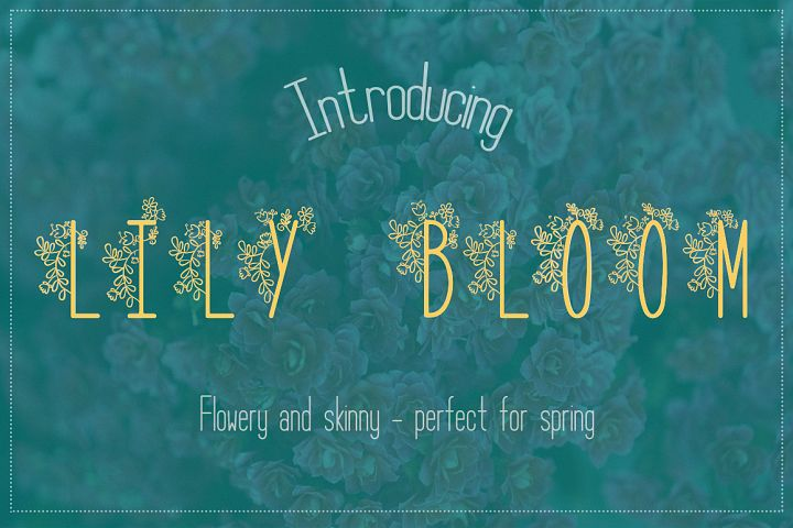 Lily Bloom Flowery Font