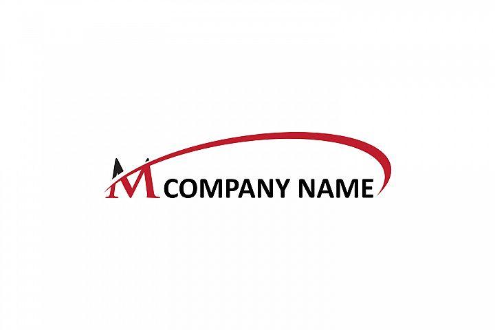 m letter swoosh logo