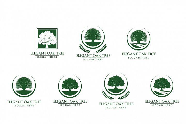 Green Oak Tree Logo vol 3