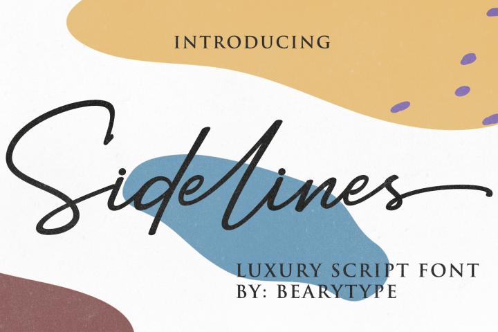 Sidelines // Luxury Signature Font