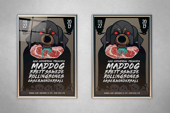 Mad Dog Indie Music Concert Flyer