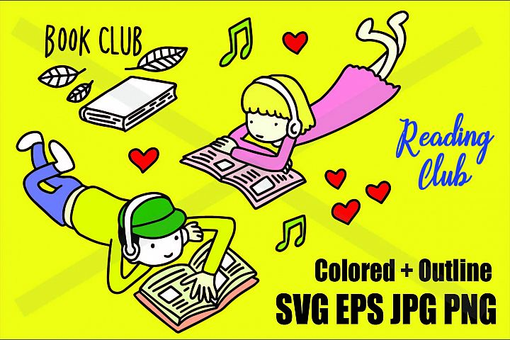 Book Reading Club - SVG-EPS-JPG-PNG