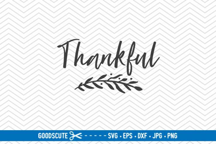 Thankful | Thanksgiving - SVG DXF JPG PN