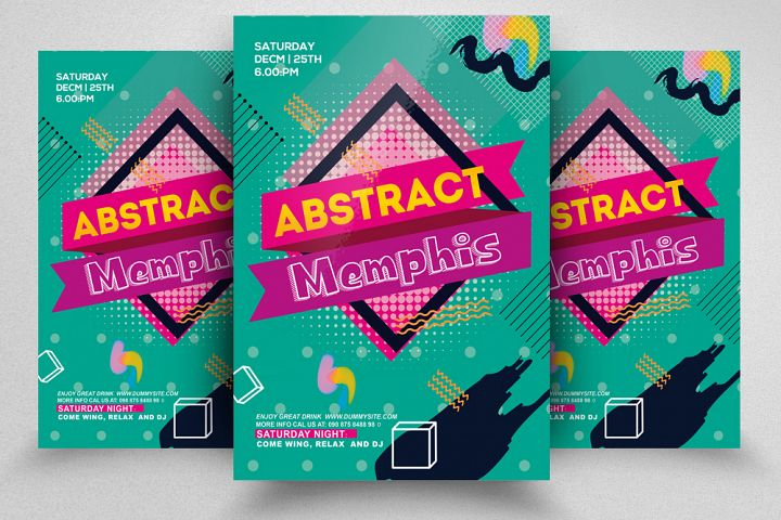 Abstract Memphis Flyer Template
