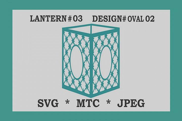 SVG Criss Cross Star Design #02 OVAL 3D Paper Lantern 03