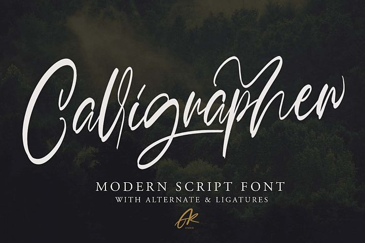 Calligrapher | Modern Script Font
