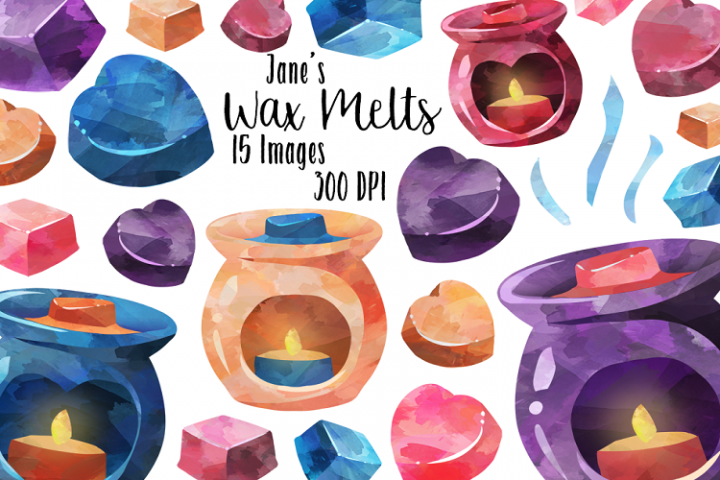 Watercolor Candle Warmers Clipart