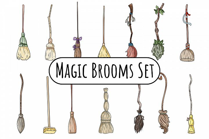 Magic Brooms Set