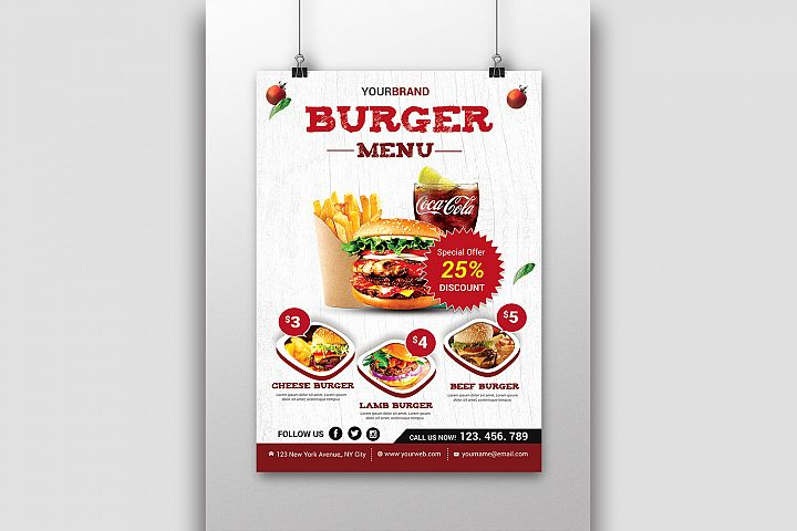 Burger Menu Flyer Discount