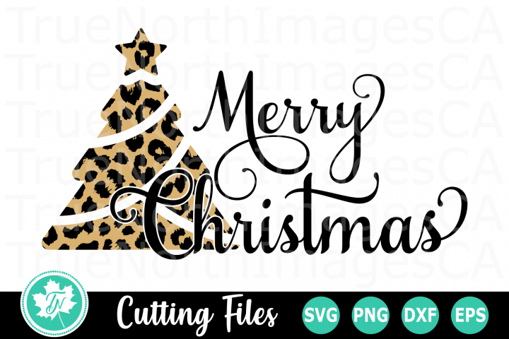 Merry Christmas Leopard Tree - A Christmas SVG Cut File