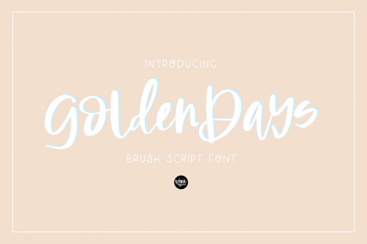 GOLDEN DAYS Signature Script .OTF Font